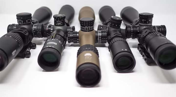 You choose rifle scope from well known brands